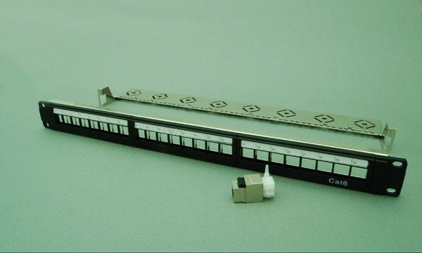 24口六类屏蔽配线架