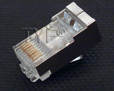 六类屏蔽水晶头(适合AMP屏蔽线)
